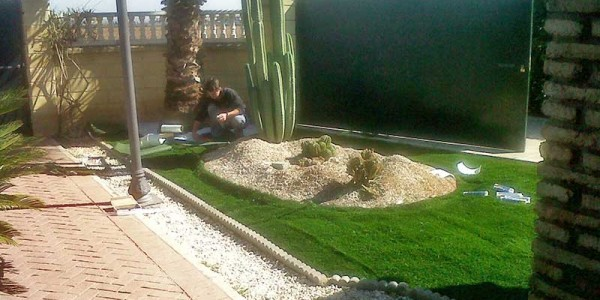 Jardín de hogar